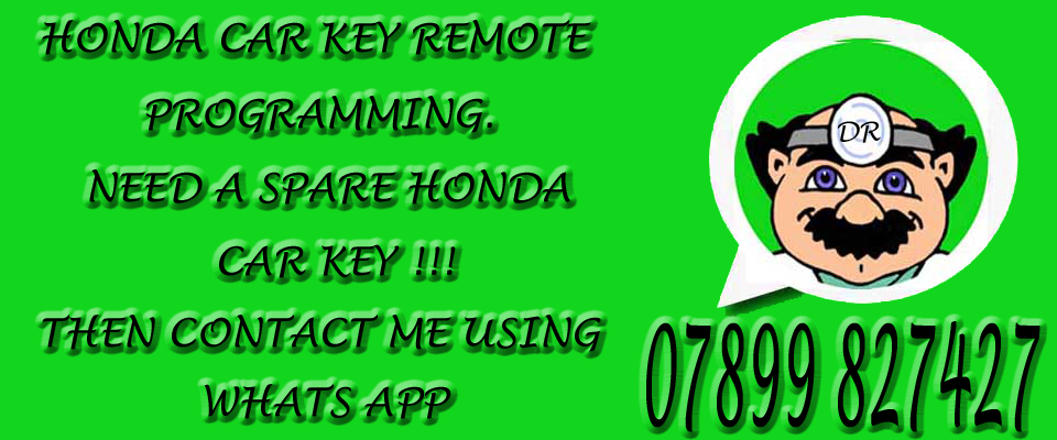 Honda keys from The Remote Doctor on whatsapp