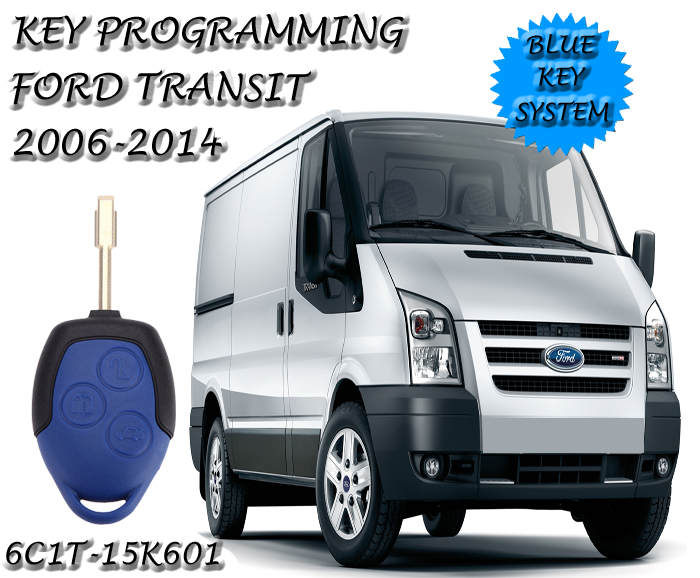 Ford Transit Van Blue Key Remote Programming | The Remote ...